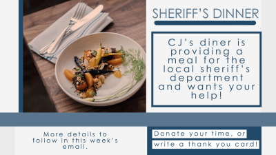 Additional information for Sheriff's Dinner